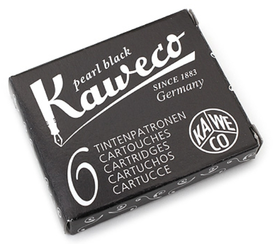 Kaweco Fountain Pen Ink Cartridge - Pearl Black - Pack of 6 (KAWECO 10000257) = $2.30 [JetPens 1/3/16]