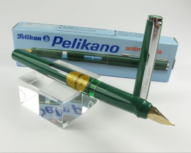 Pelikano P456 Fountain Pen green F nib, new with Box eBay 2/22/16 seller Einzelunternehmen $59.90 FS.
